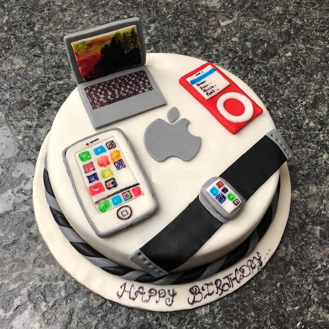 apple devices design cake