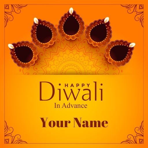 happy diwali in advance greeting card