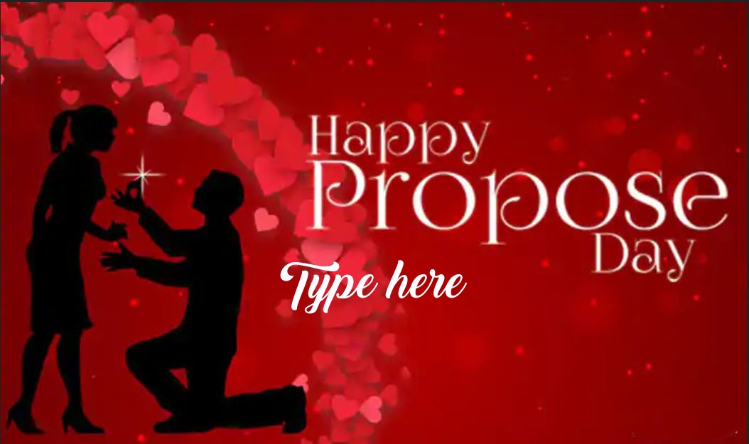 happy propose day wishes greeting card with name