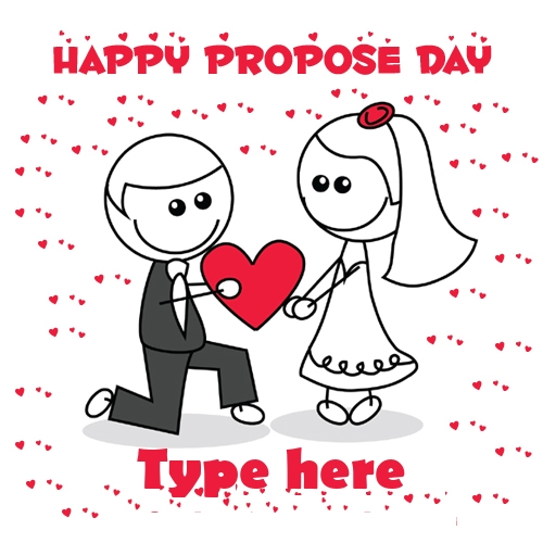 write name on happy propose day image and profile pic