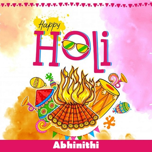 Abhinithi 2020 happy holi wishes, quotes, messages