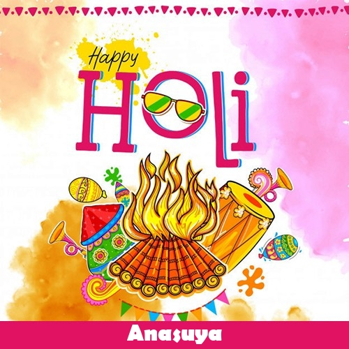 Anasuya 2020 happy holi wishes, quotes, messages