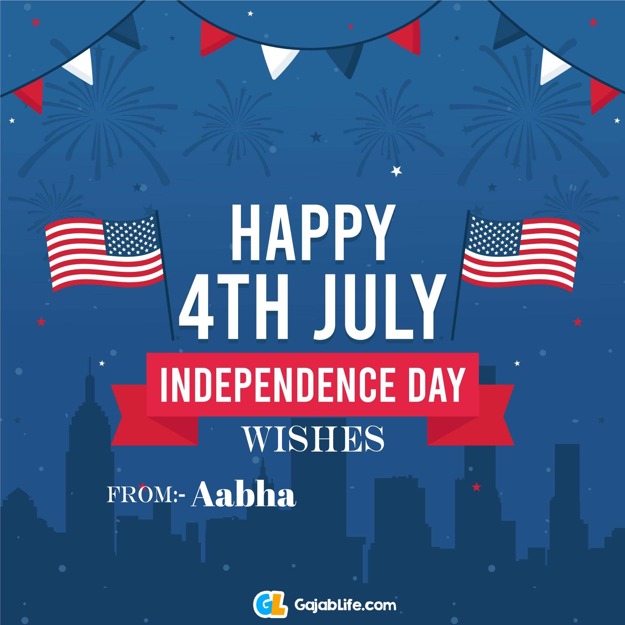 Aabha happy independence day united states of america images