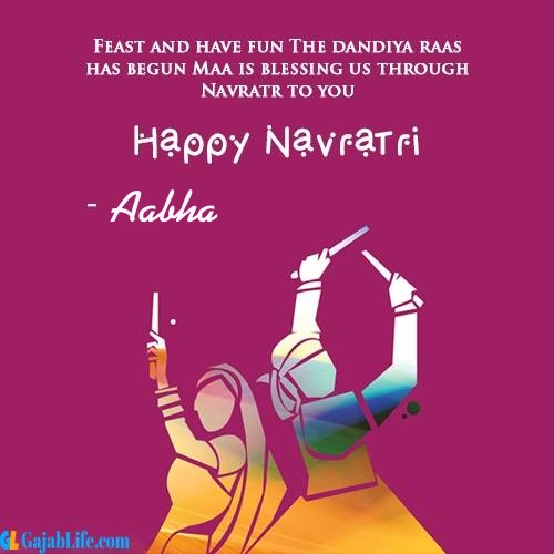 Aabha happy navratri wishes images