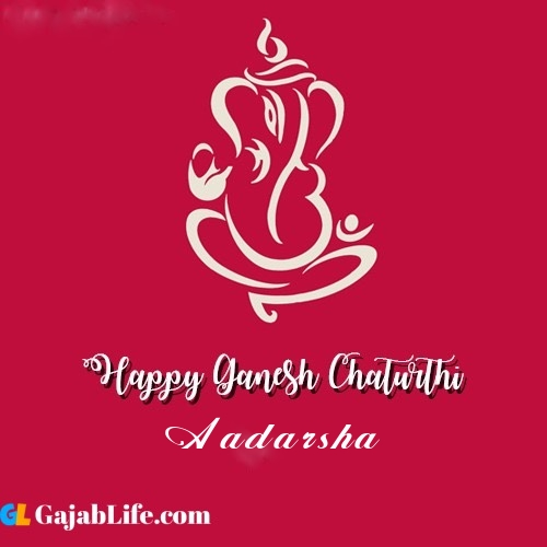 Aadarsha happy ganesh chaturthi 2020