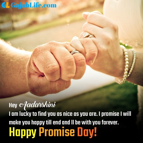 Aadarshini happy promise day images