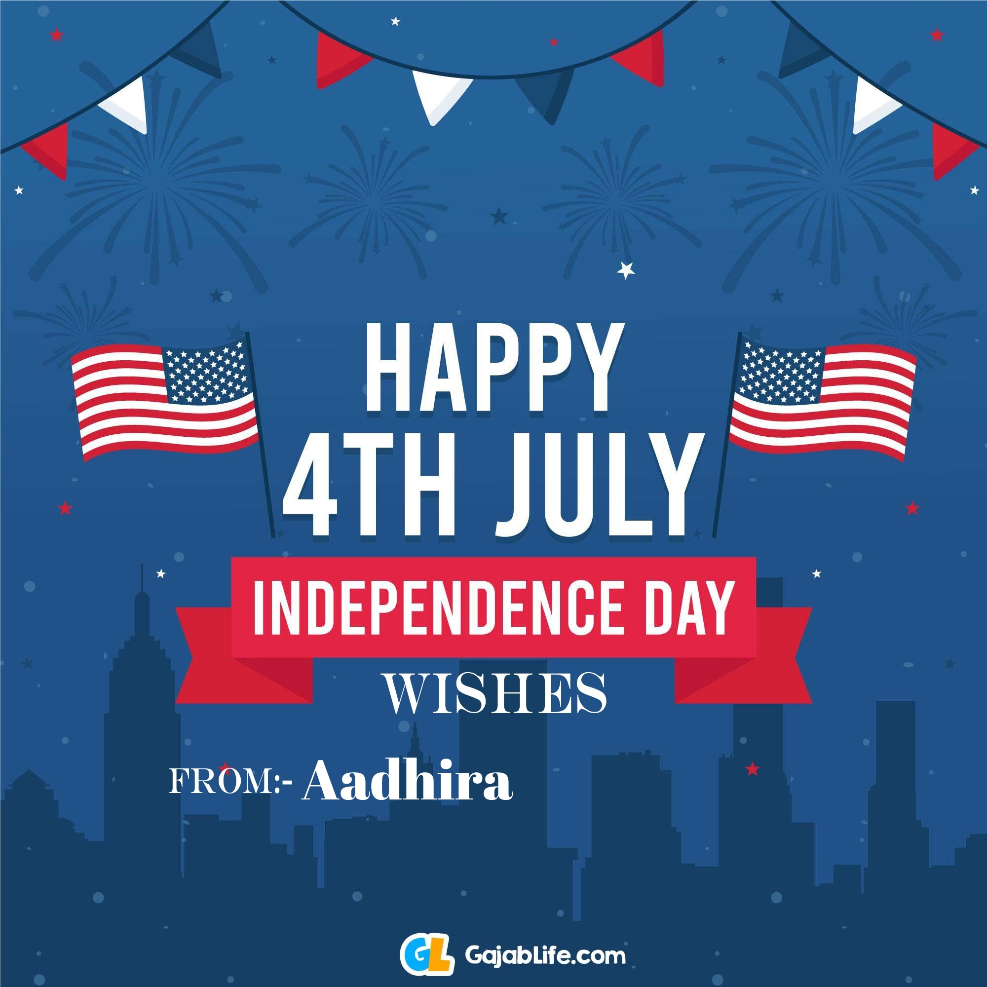 Aadhira happy independence day united states of america images