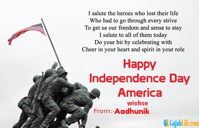 Aadhunik american independence day  quotes
