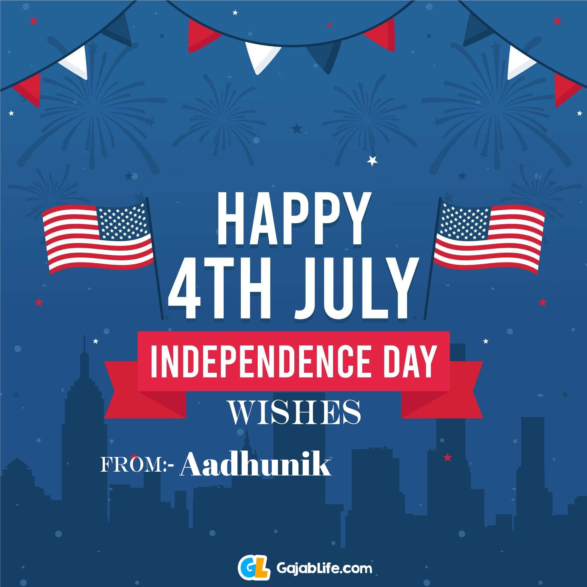 Aadhunik happy independence day united states of america images