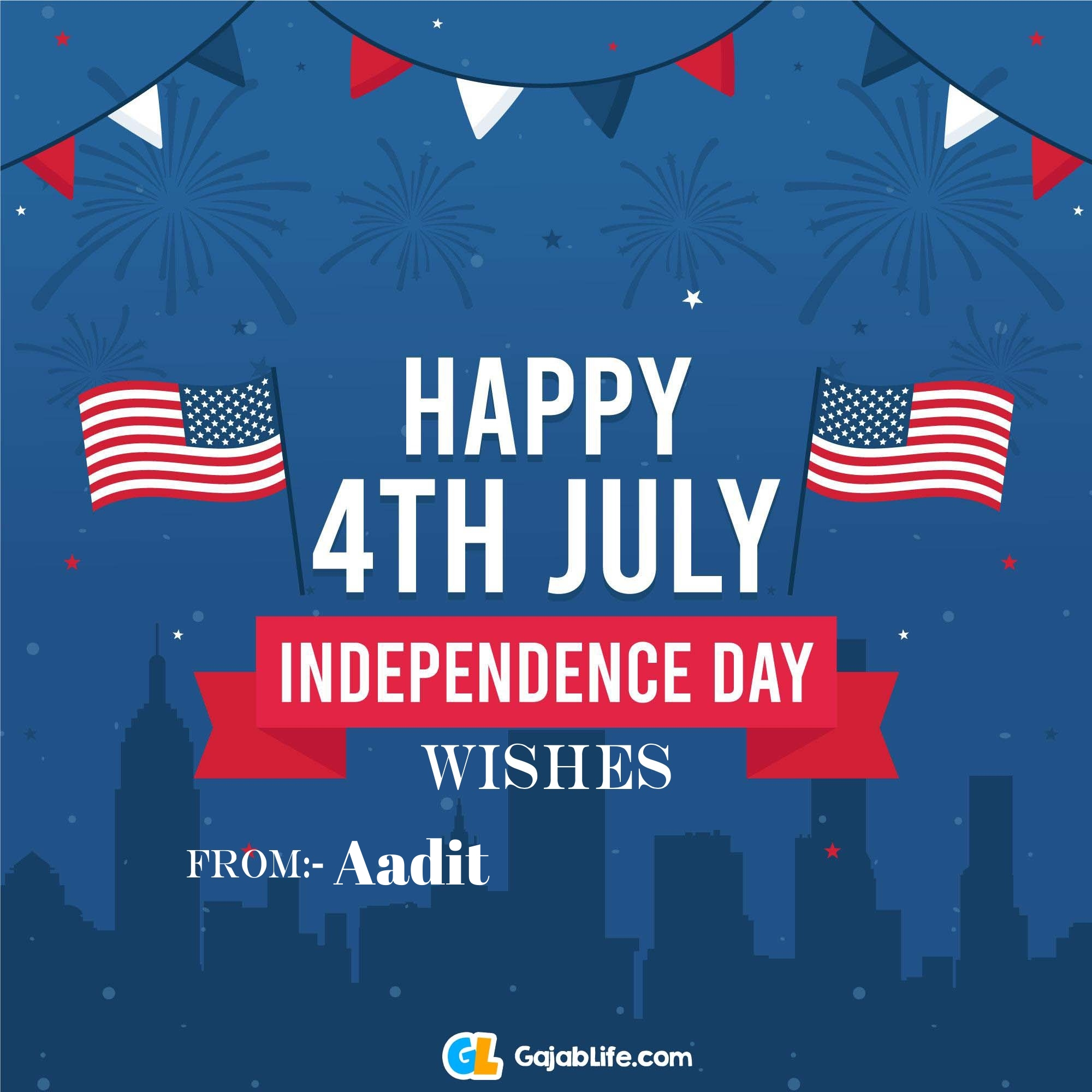 Aadit happy independence day united states of america images