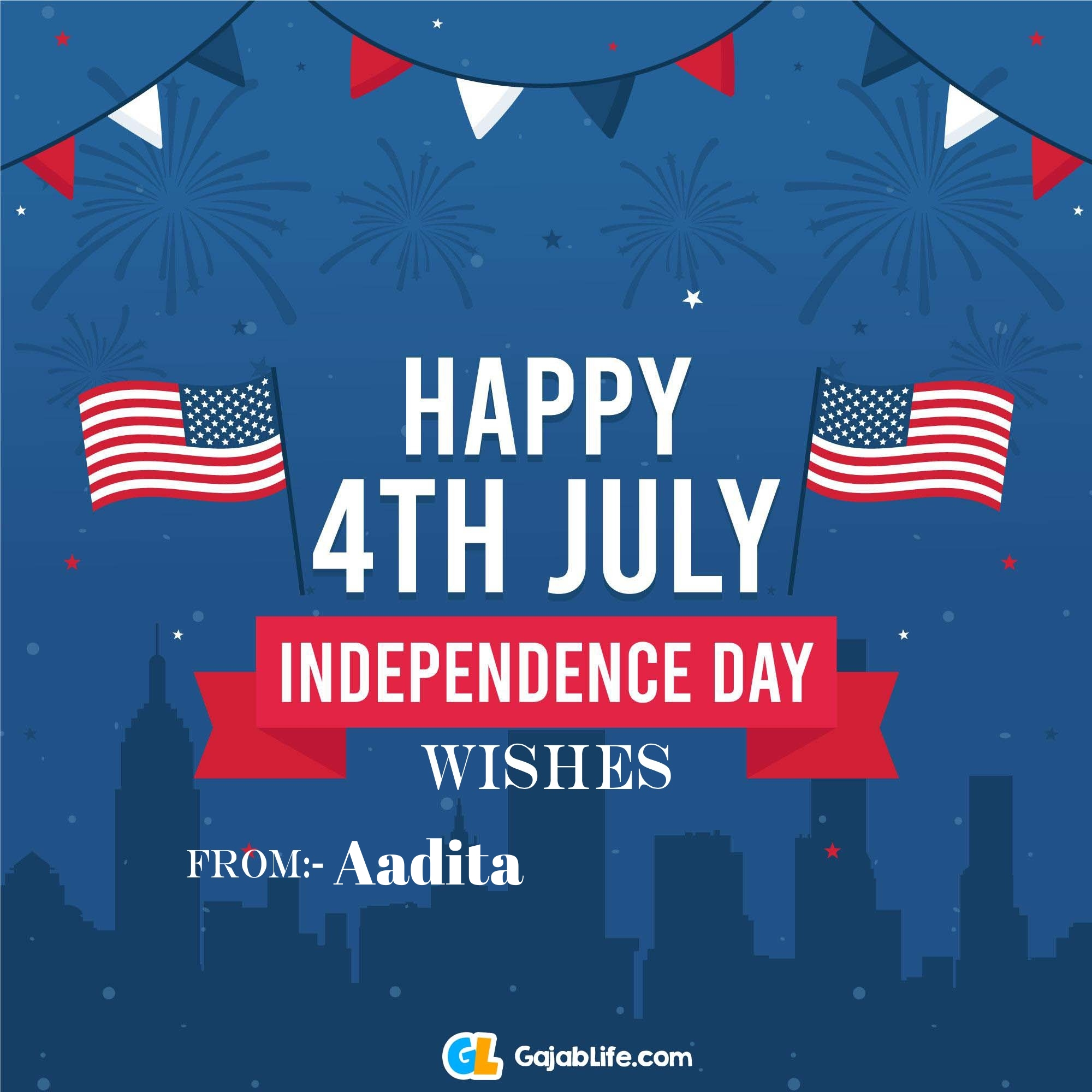 Aadita happy independence day united states of america images