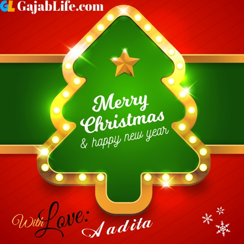 Aadita happy new year and merry christmas wishes messages images