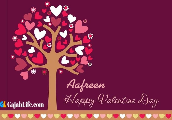 Aafreen romantic happy valentines day wishes image pic greeting card