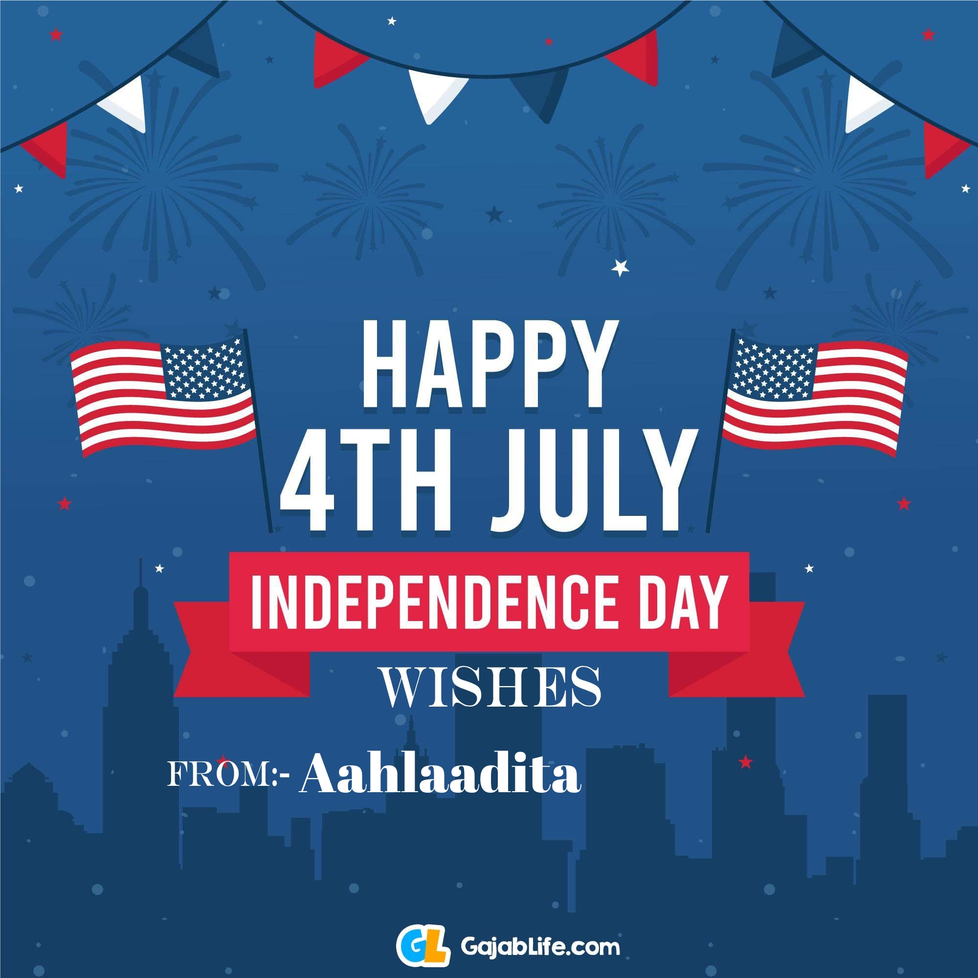 Aahlaadita happy independence day united states of america images