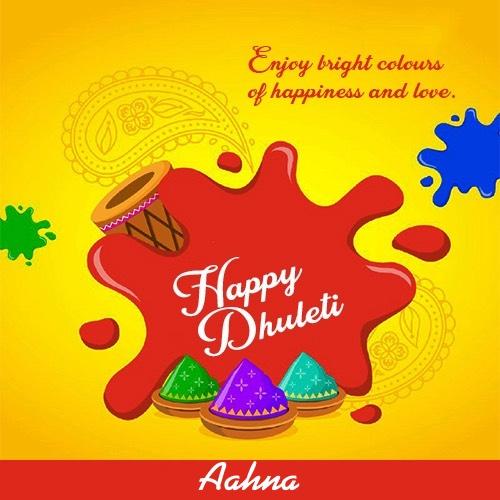 Aahna happy holi dhuleti wallpapers 2020
