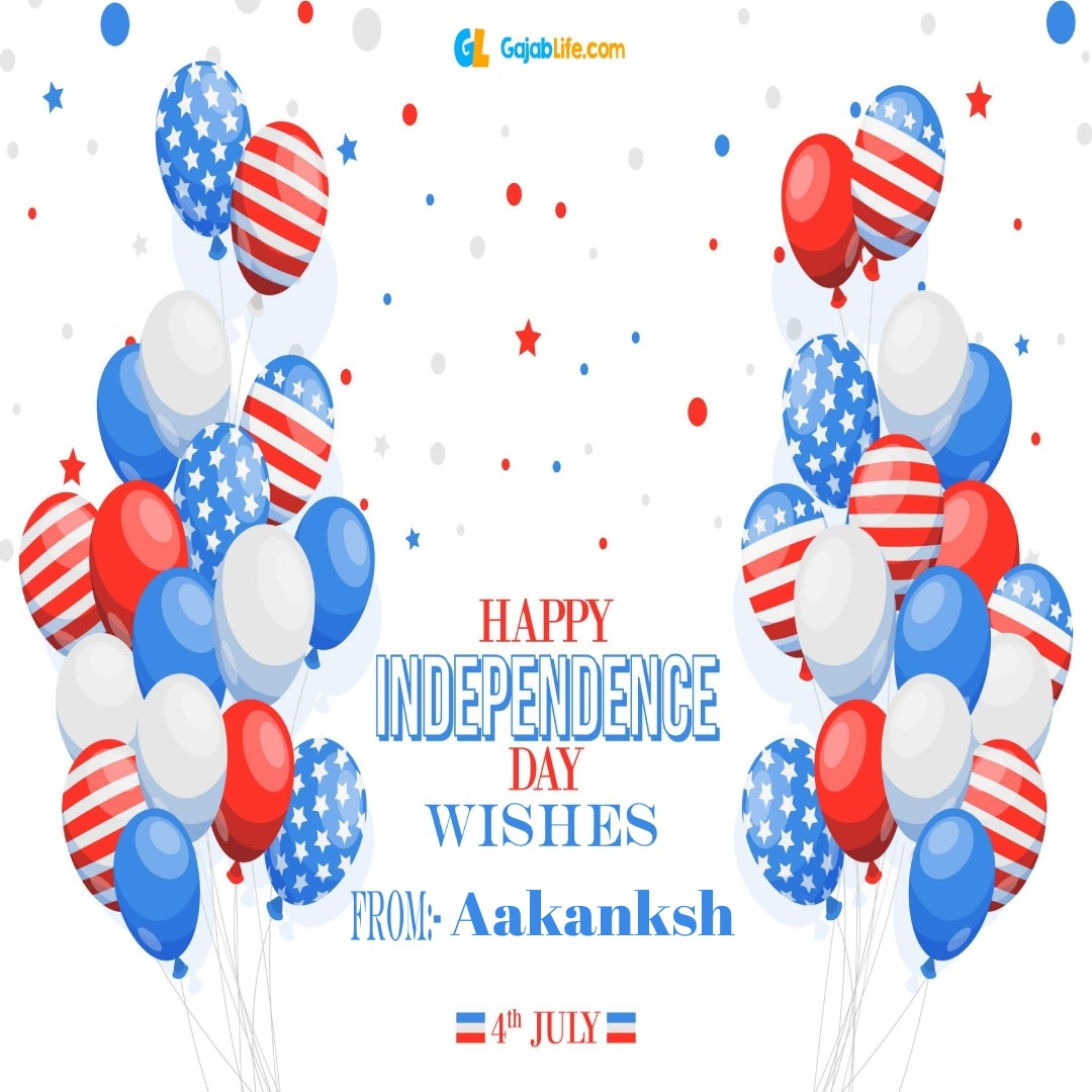Aakanksh 4th july america's independence day