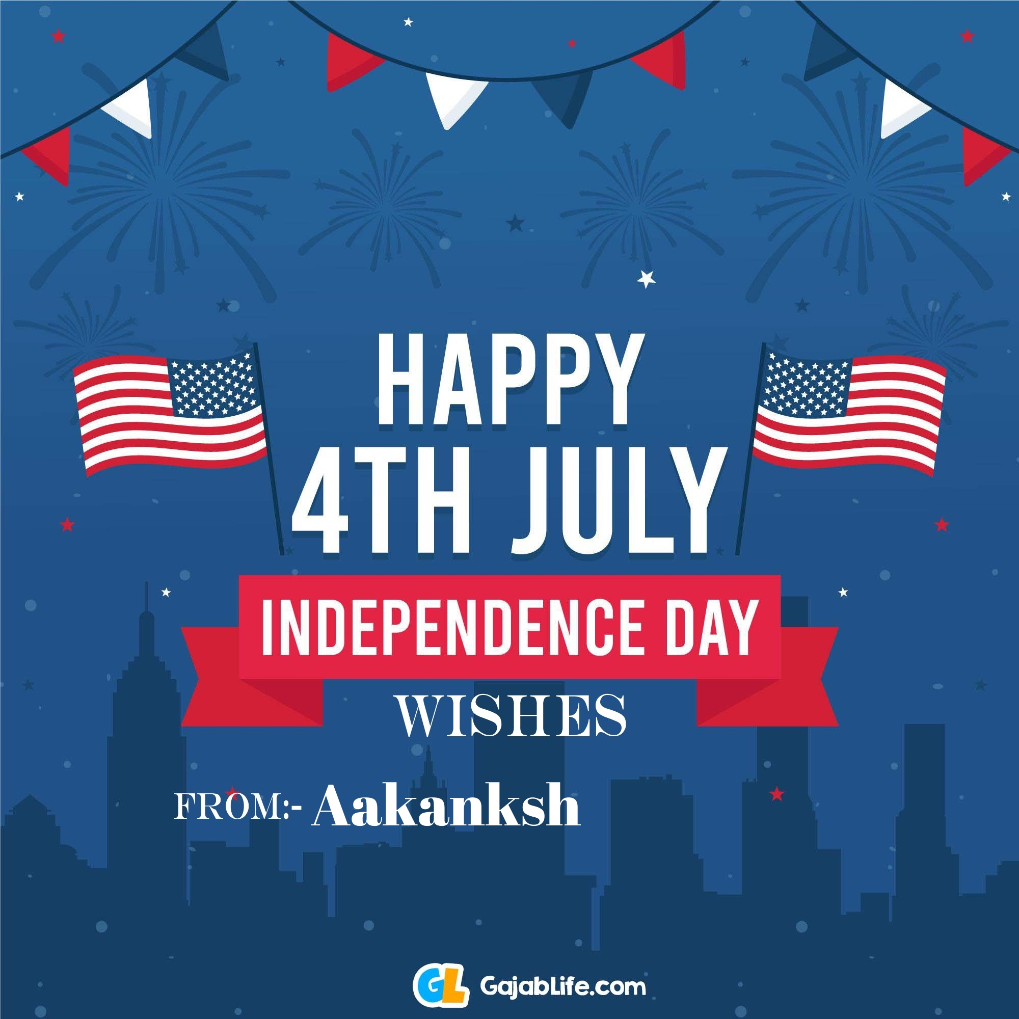 Aakanksh happy independence day united states of america images