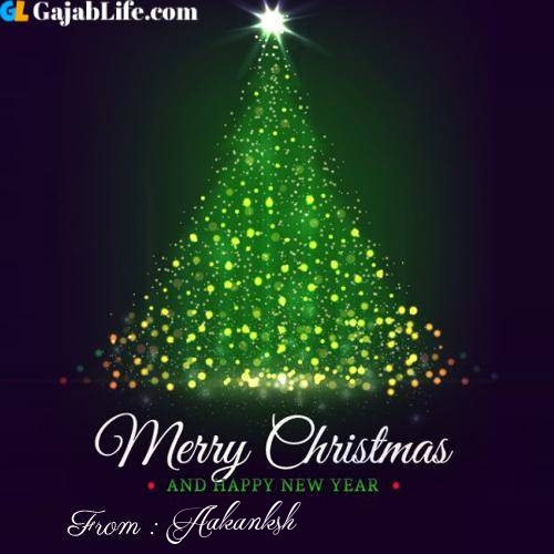 Aakanksh wish you merry christmas with tree images