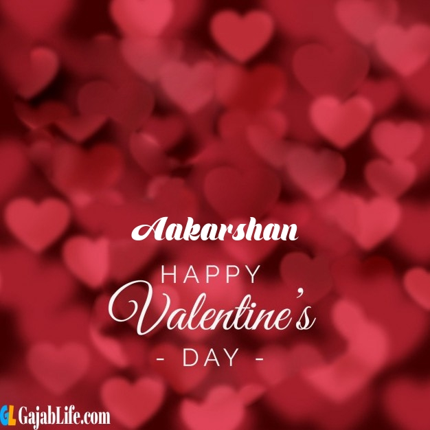 Aakarshan write name on happy valentines day images