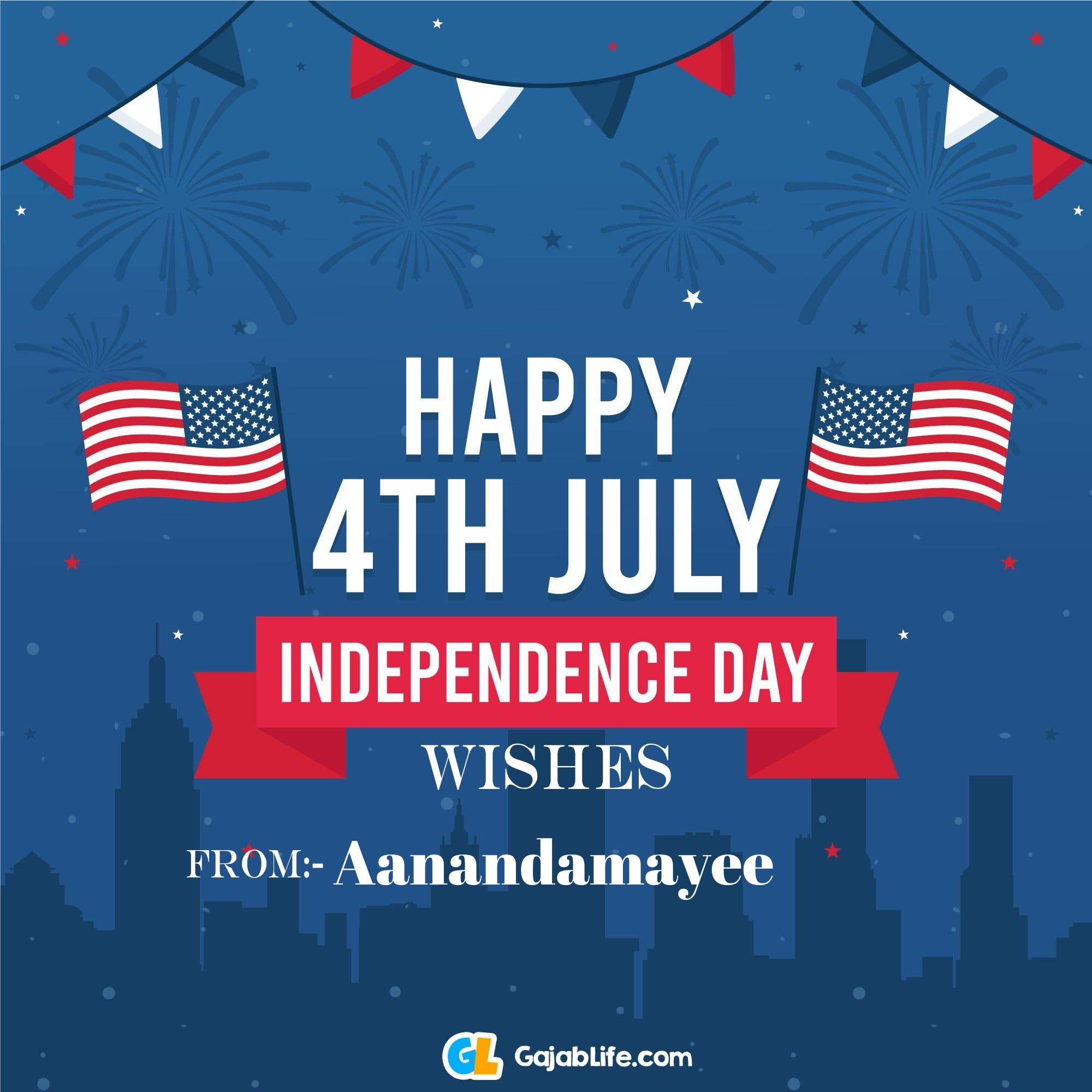 Aanandamayee happy independence day united states of america images