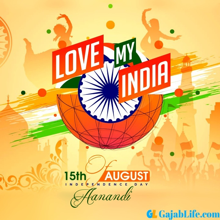 Aanandi happy independence day 2020