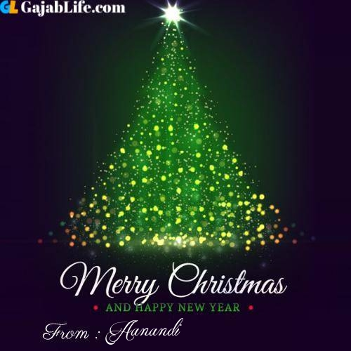 Aanandi wish you merry christmas with tree images