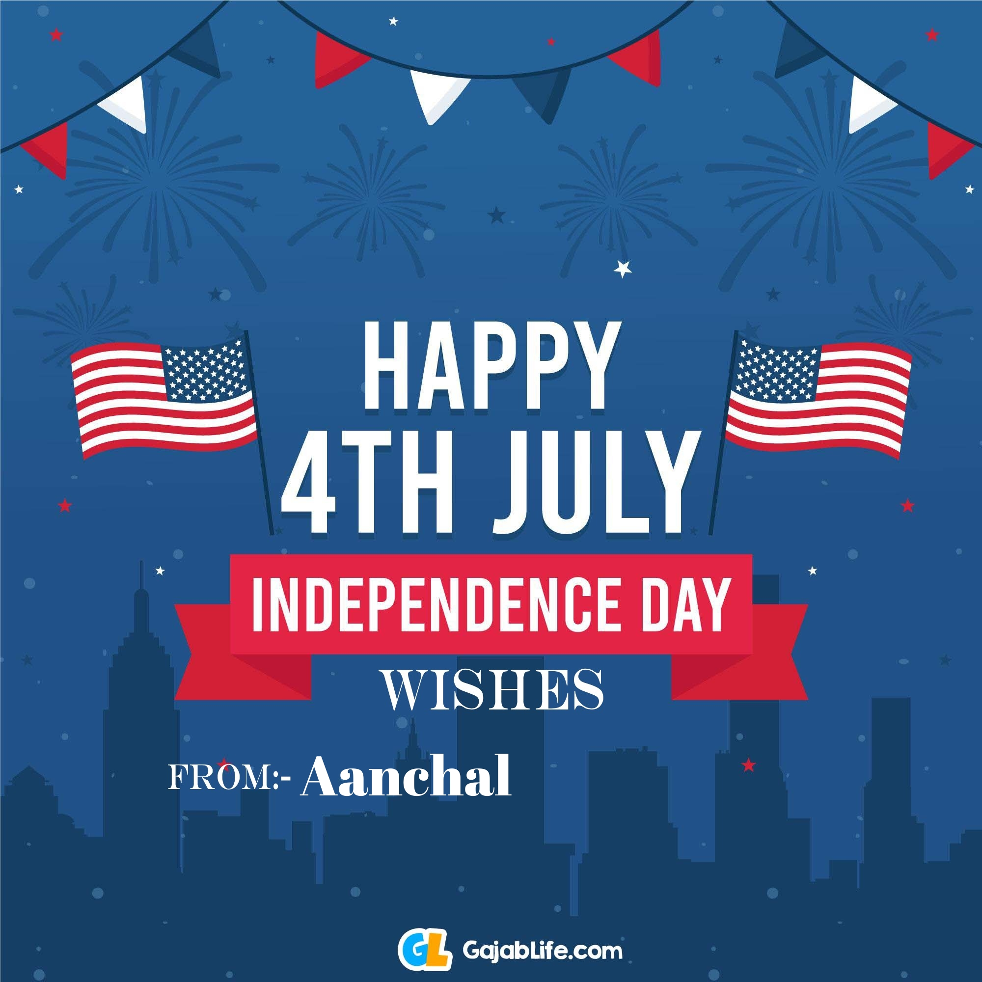 Aanchal happy independence day united states of america images