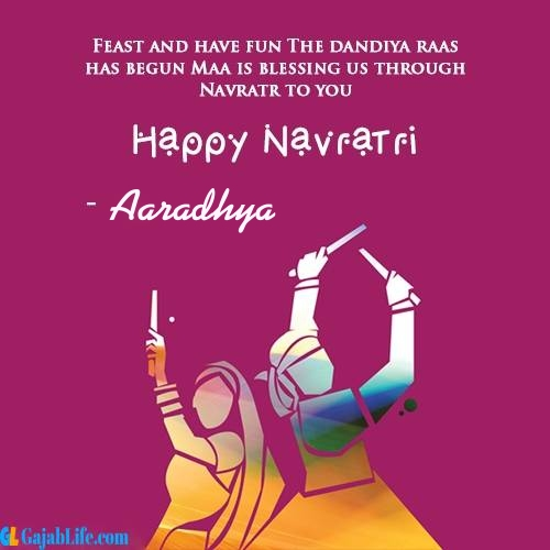 Aaradhya happy navratri wishes images