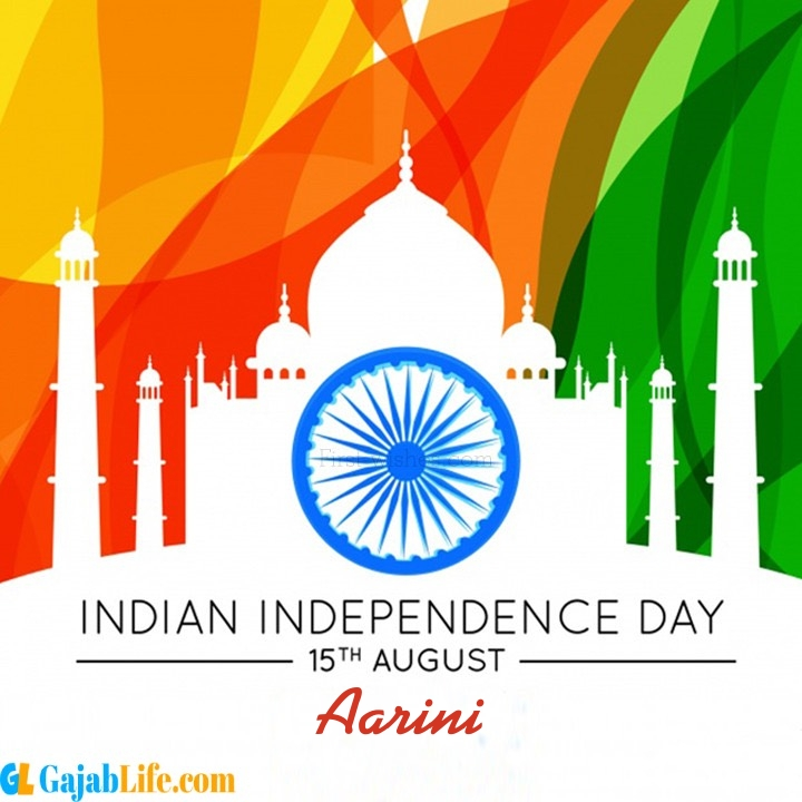 Aarini happy independence day wish images