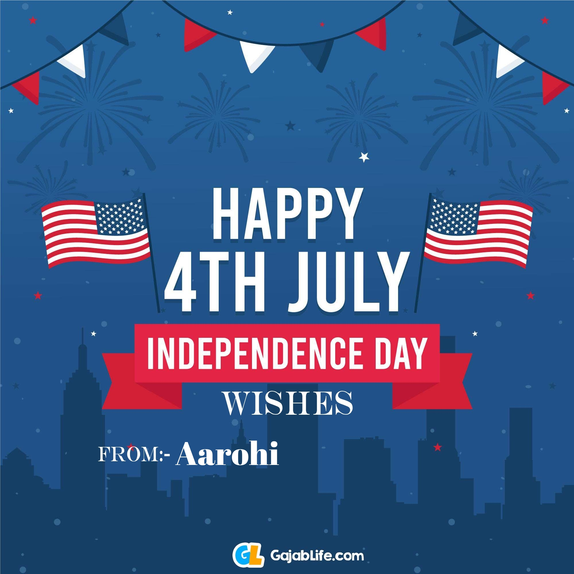 Aarohi happy independence day united states of america images