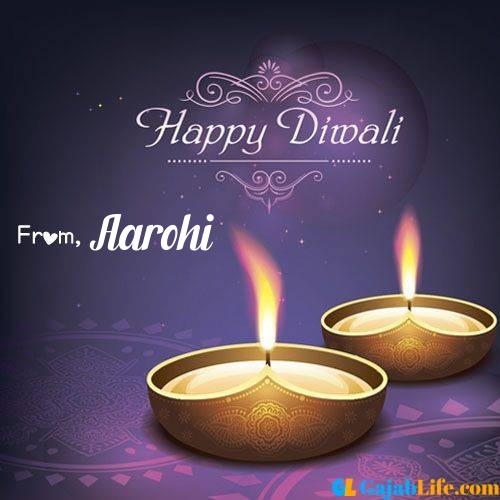 Aarohi wish happy diwali quotes images in english hindi 2020