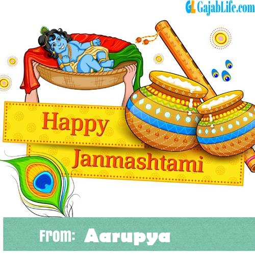 Aarupya happy janmashtami wish