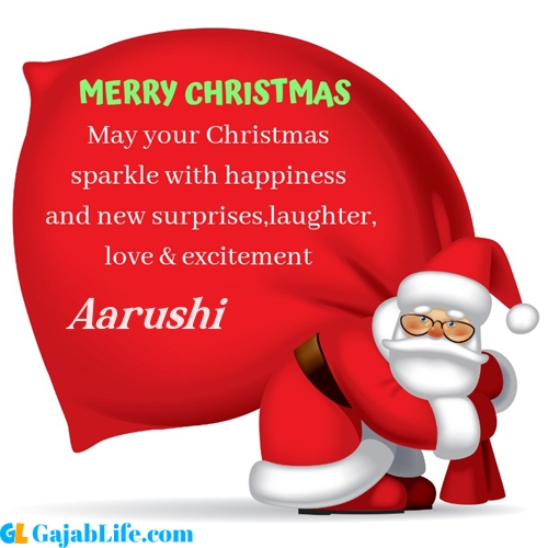 Aarushi merry christmas images with santa claus quotes