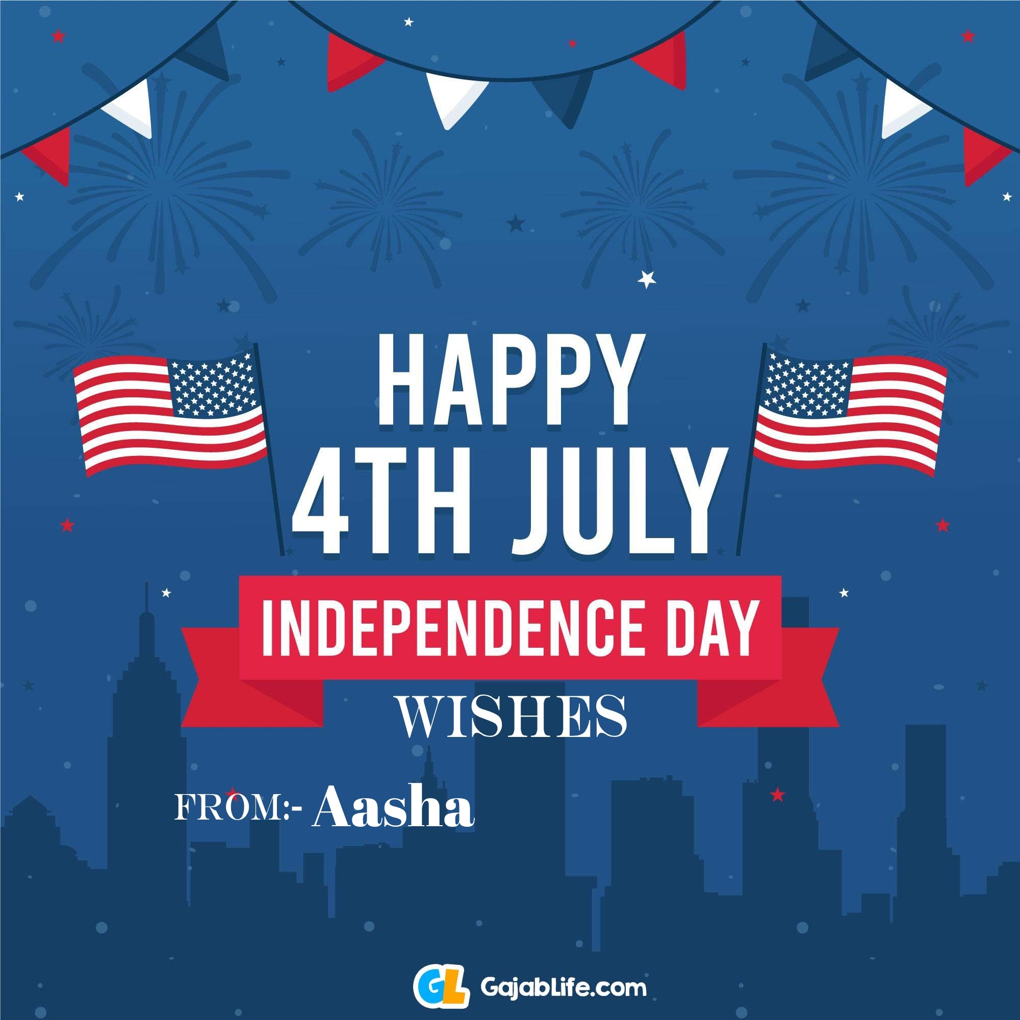 Aasha happy independence day united states of america images