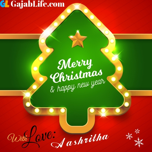 Aashritha happy new year and merry christmas wishes messages images