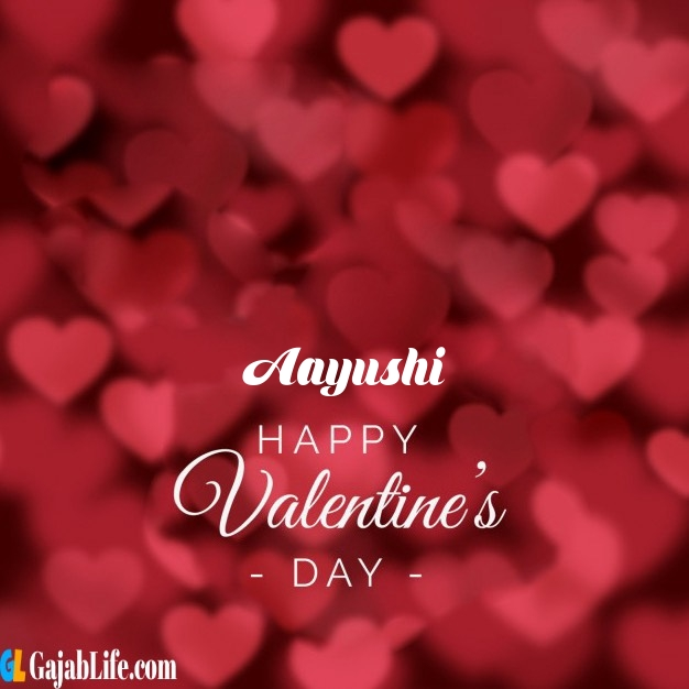 Aayushi write name on happy valentines day images