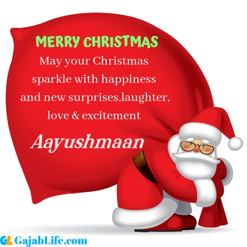 Aayushmaan merry christmas images with santa claus quotes