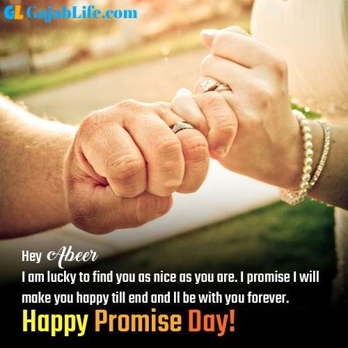 Abeer happy promise day images