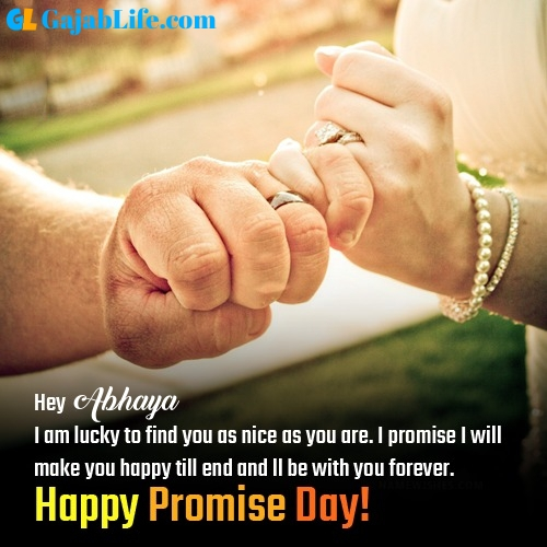 Abhaya happy promise day images