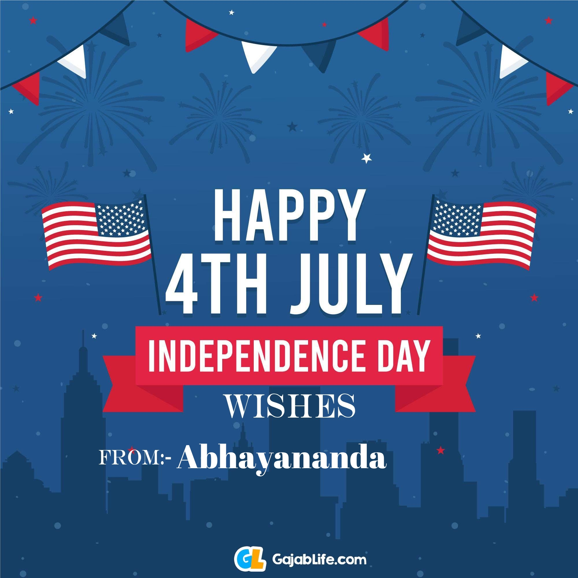 Abhayananda happy independence day united states of america images