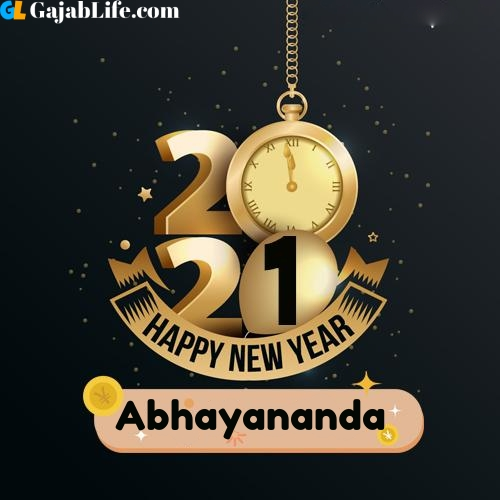 Abhayananda happy new year 2021 wishes images