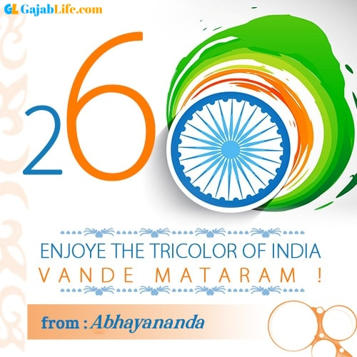 Abhayananda happy republic day wish whatsapp images write name on pics photos