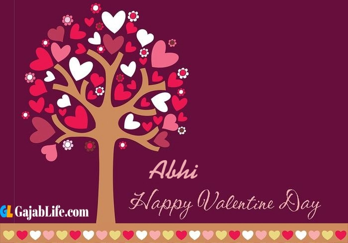 Abhi romantic happy valentines day wishes image pic greeting card