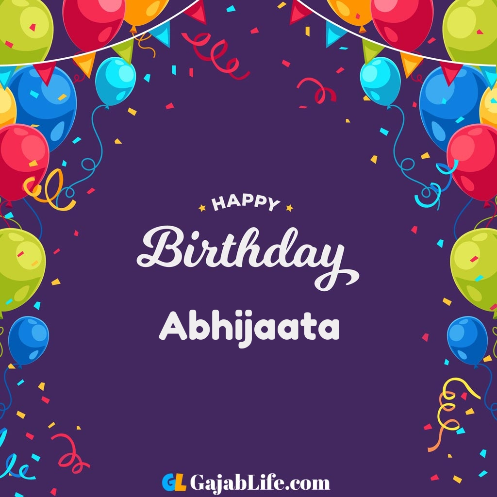 Abhijaata happy birthday wishes images with name
