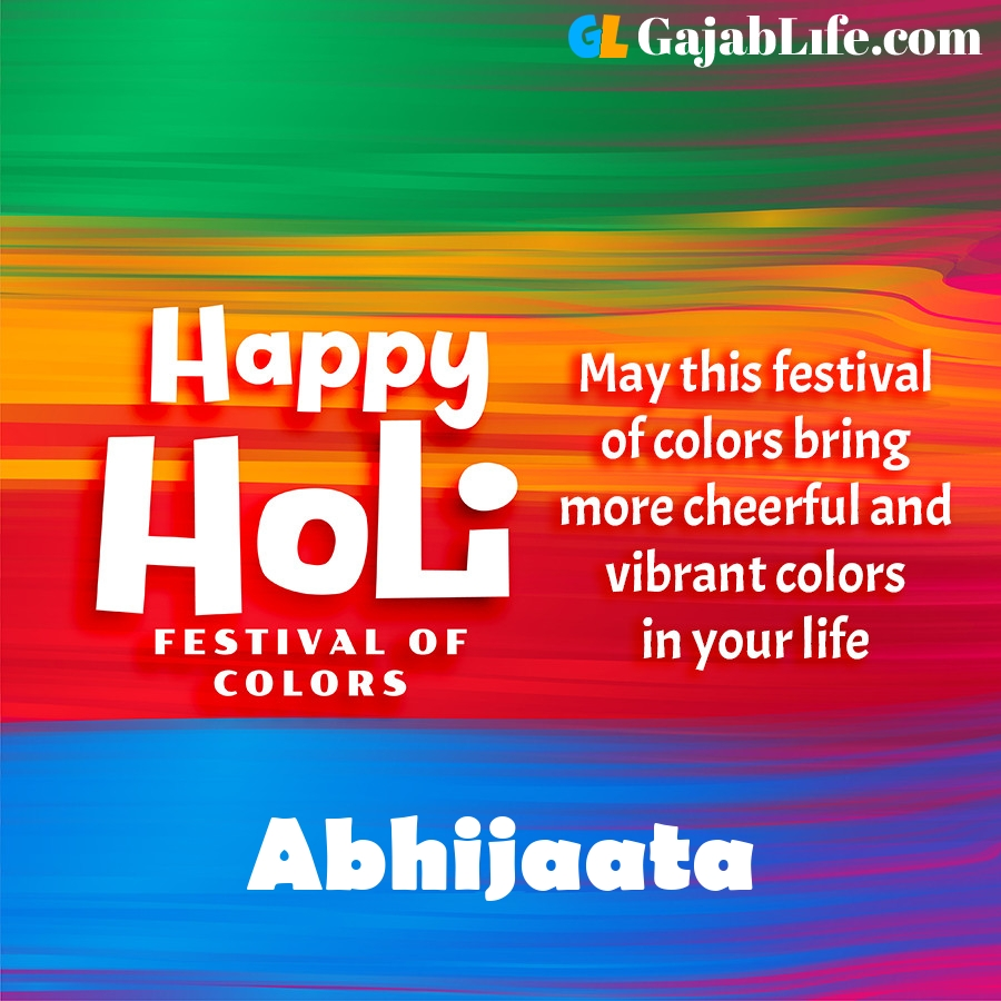 Abhijaata happy holi festival banner wallpaper