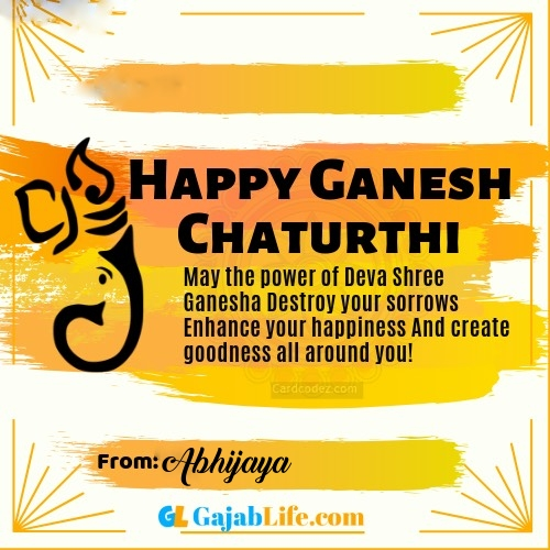 Abhijaya best ganpati messages, whatsapp greetings, facebook status