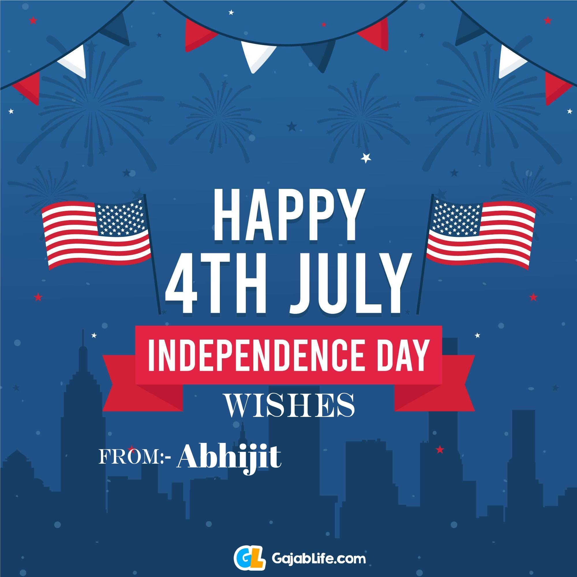 Abhijit happy independence day united states of america images