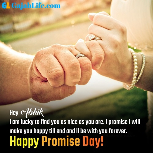 Abhik happy promise day images