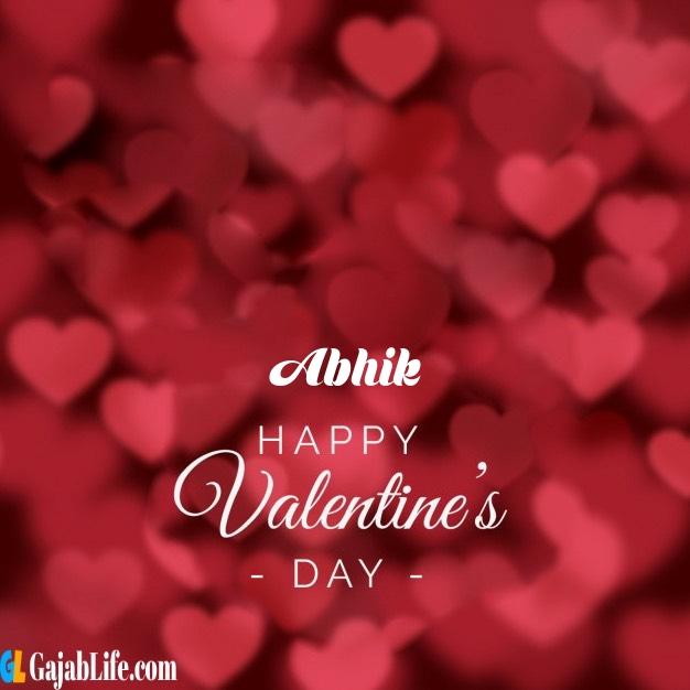 Abhik write name on happy valentines day images