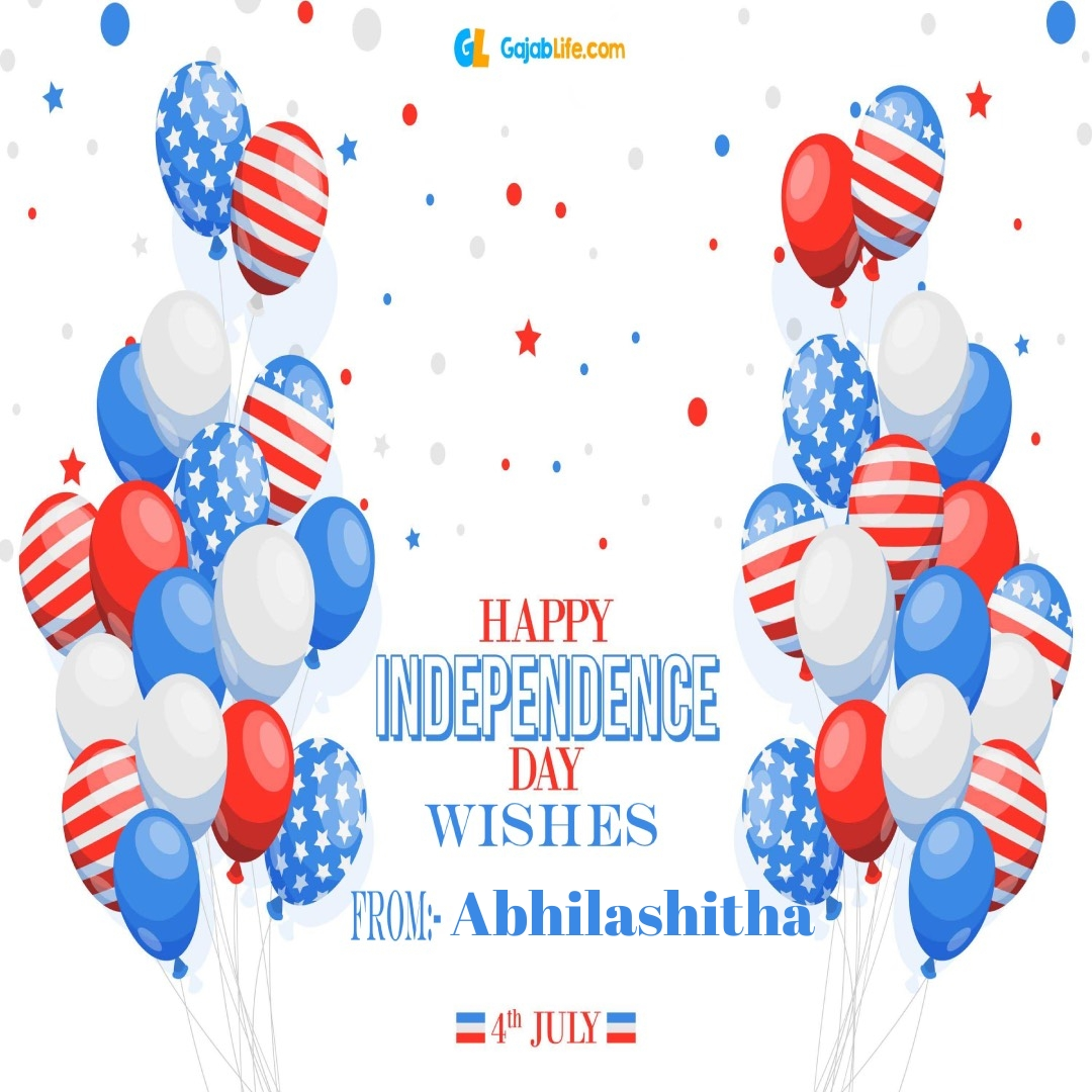 Abhilashitha 4th july america's independence day